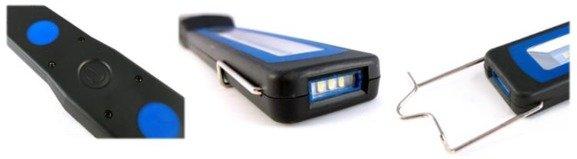 Akumulatora latarka warsztatowa, lampa inspekcyjna, bardzo wąska, M-TECH IL96 diody OSRAM