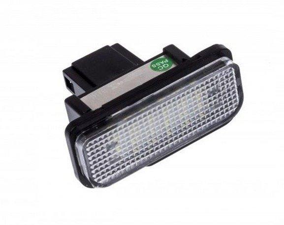 Lampki LED podświetlenia tablicy rejestracyjnej MERCEDES W203 C Klasa W211 E Klasa W219 CLS SKLA R171
