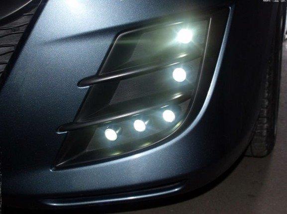 MOCNE Światła Lampy dzienne DRL 402 SMOKE EINPARTS stylizowane na HELLA FLEX DIODY OSRAM
