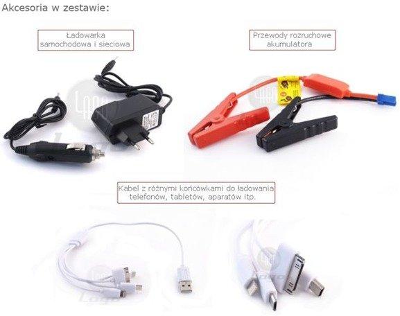 Starter akumulatorowy, Jump Starter, Booster, Power Bank 6800 mAh JS203