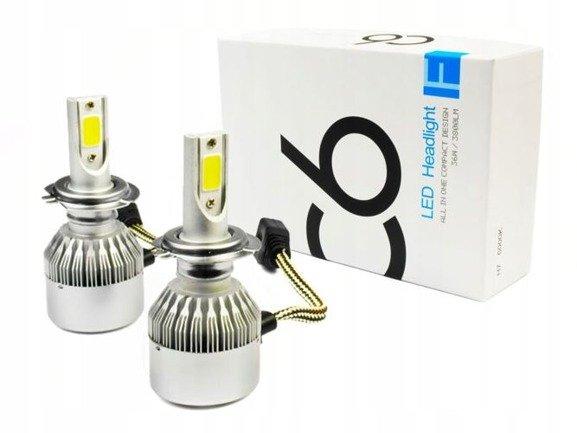 Żarówki LED zestaw 12V 24V H7 COB 7600 LM Żarówka